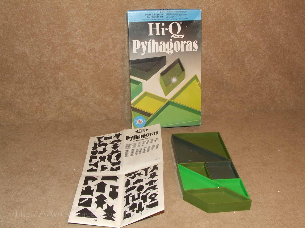 Pythagoras Hi-Q Game - Boxed & Complete - Ideal - Vintage - Vintage Retro And Vinyl - 1