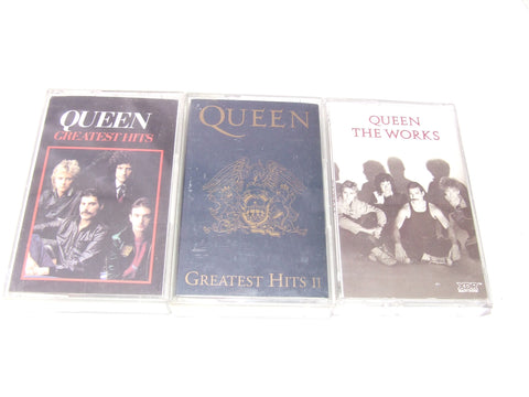 Queen Greatest Hits 1 & 2 Plus The Works Cassettes