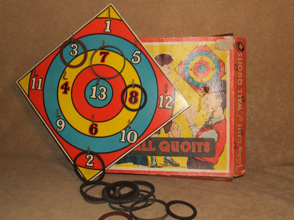 Victory Wall Quoits Family Skill Game Boxed Vintage Made In England