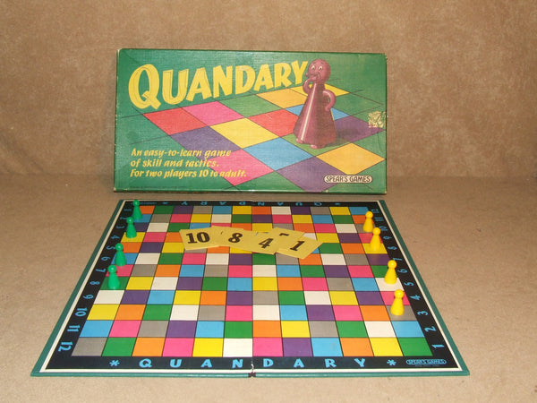 Quandary Board Game By Spears Boxed And Complete Vintage 1970 - Vintage Retro And Vinyl - 1