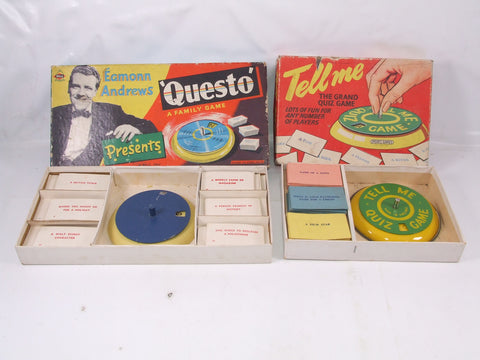 Eamon Andrews Questo PLUS Spears Games Tell Me Retro 1950's/60's Games