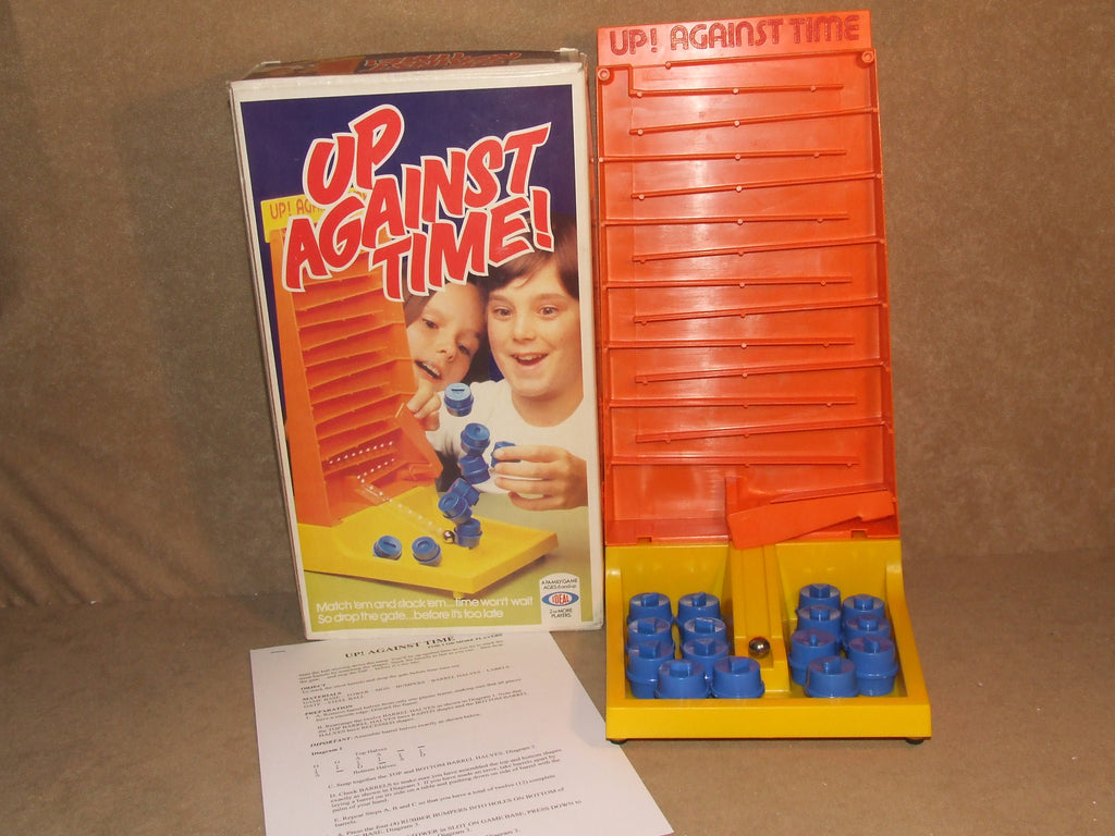Up Against Time Board Game Made England Ideal Vtg 1981 Boxed Nr Complete Extras - Vintage Retro And Vinyl - 1
