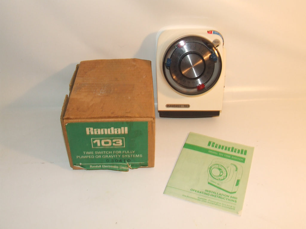 Randall 103 Time Switch For Pumped Or Gravity Systems Boxed With Instructions