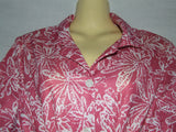 Ladies Dress Red Pink And White Floral Pattern Size 18 Vintage 80's Style - Vintage Retro And Vinyl - 2