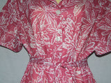 Ladies Dress Red Pink And White Floral Pattern Size 18 Vintage 80's Style - Vintage Retro And Vinyl - 3