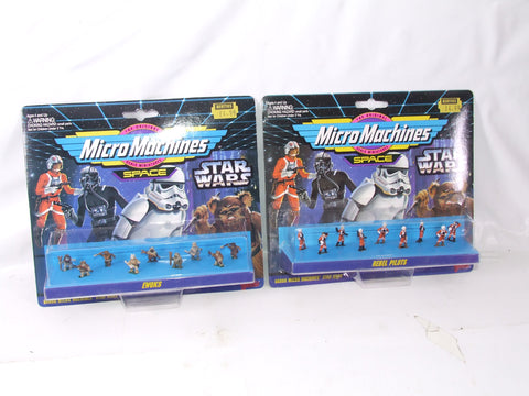 Micro Machines Star Wars Rebel Pilots & Ewoks Set - New