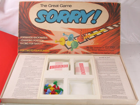 Sorry! Family Board Game Boxed & Complete 1960's