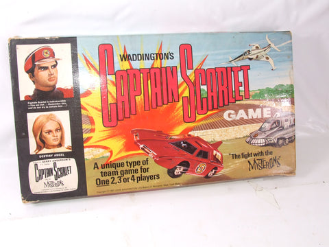 Captain Scarlet Board Game The Fight With The Mysterons Vintage Boxed & Complete
