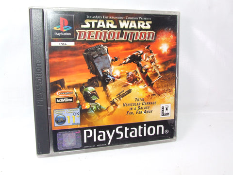 Star Wars Demolition Playstation One PS1 Video Game PAL