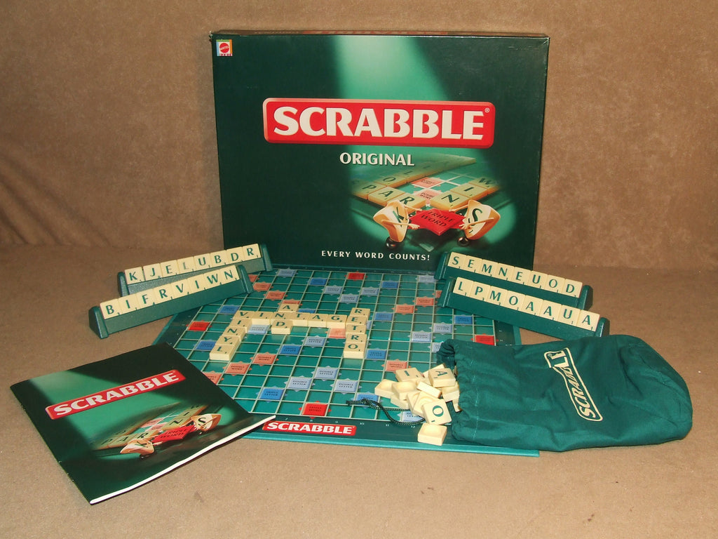 Scrabble Original By Mattel Boxed And Complete 1999 - Vintage Retro And Vinyl - 1