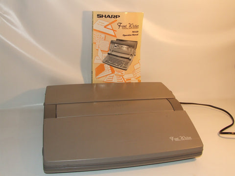Sharp Font Writer Personal Word Processor FW-630 Working With Manual