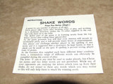 Shakewords Peter Pan Boxed & Complete With Instructions - 1960's - Vintage Retro And Vinyl - 4