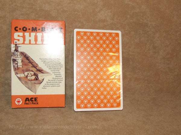 Combat Ships Ace Fact Pack New Cards Sealed - Vintage 1980's - Vintage Retro And Vinyl - 1