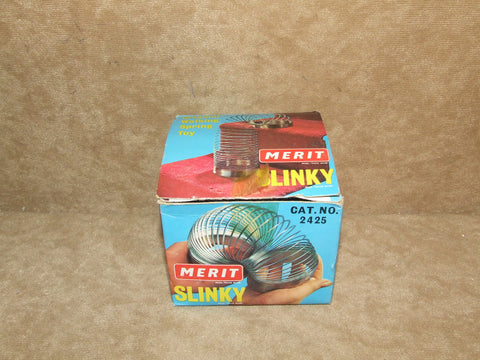 1960's Or 70's Slinky In Original Box - Merit #2425 J&L Randall England - Vintage Retro And Vinyl - 1