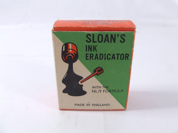 Vintage Sloan's Ink Eradicator Boxed & Un-Used Contents