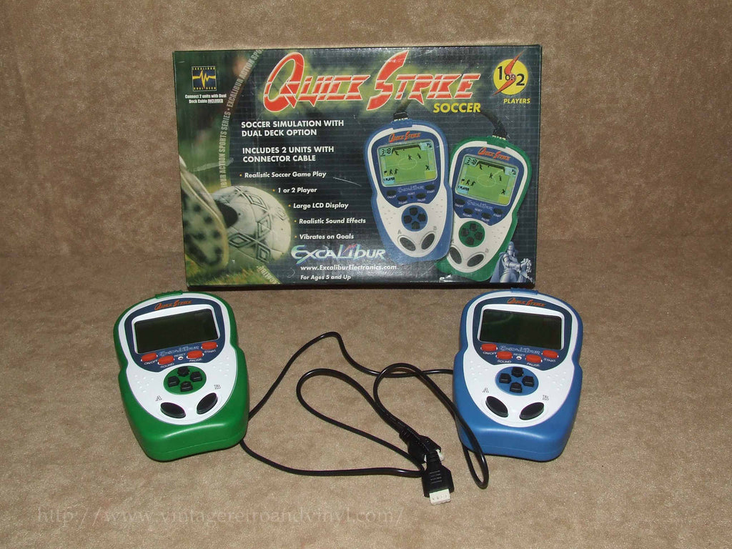 Quick Strike Soccer - One or Two Player - Excalibur Electronics - Vintage Retro And Vinyl - 1
