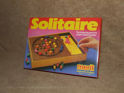 Solitaire With Fox & Geese - Merit - Made In Gt Britain - Boxed & Complete VGC - Vintage Retro And Vinyl - 1