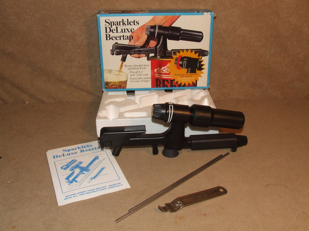 Sparklets Deluxe Beertap Vintage Boxed 1980's Fits 4 5 And 7 Pint Cans - Vintage Retro And Vinyl - 1