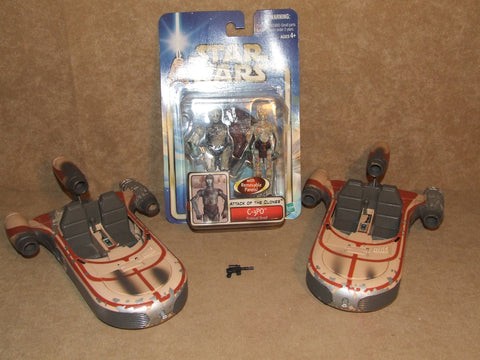 Star Wars Landspeeder x 2 And C3PO Protocol Droid New On Card - Vintage Retro And Vinyl - 1