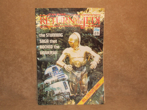Star Wars Return Of The Jedi Comic No 2 1983 Marvel Comics Ltd Made In England - Vintage Retro And Vinyl - 1