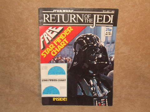 Star Wars Return Of The Jedi Comic No 3 1983 Marvel Comics Ltd Made In England - Vintage Retro And Vinyl - 1