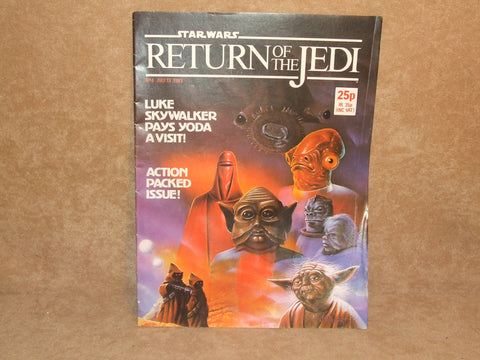 Star Wars Return Of The Jedi Comic No 4 1983 Marvel Comics Ltd Made In England - Vintage Retro And Vinyl - 1