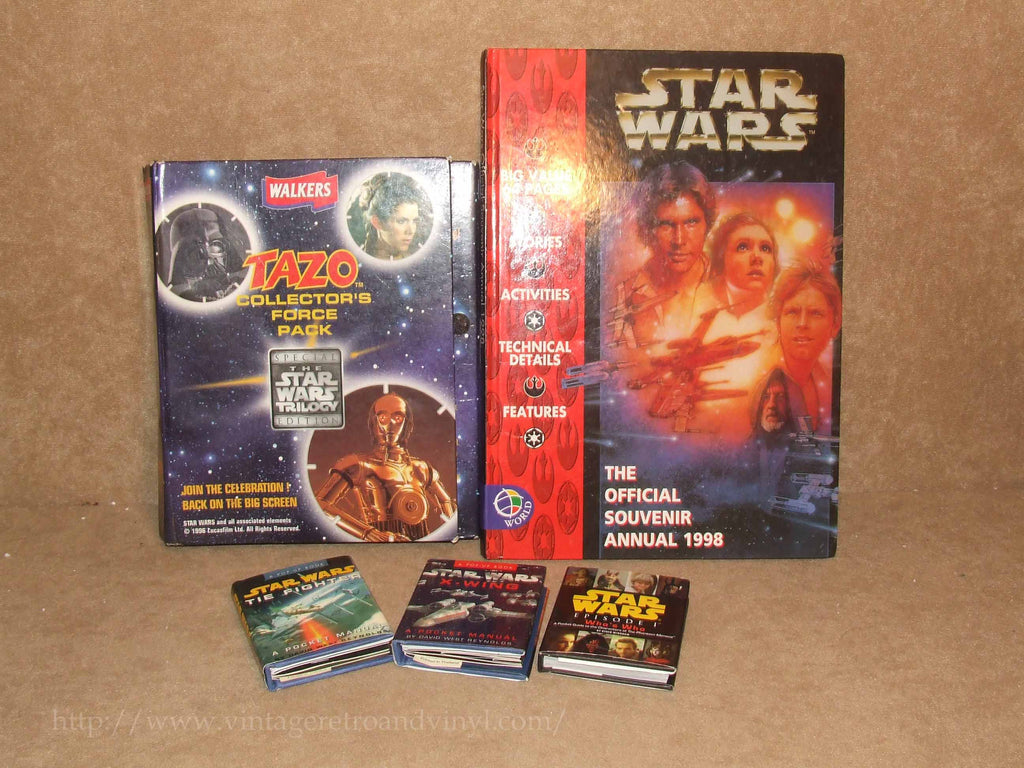 Star Wars Bundle - Official Annual, Pop Up Pocket Books, Tazo Collector Force26 - Vintage Retro And Vinyl - 1