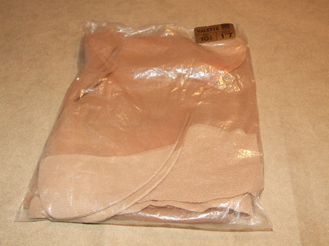 Ladies Vintage Hold Up Tan Stockings Reinforced Toe And Heel 10 1/2 Bri Nylon - Vintage Retro And Vinyl - 1