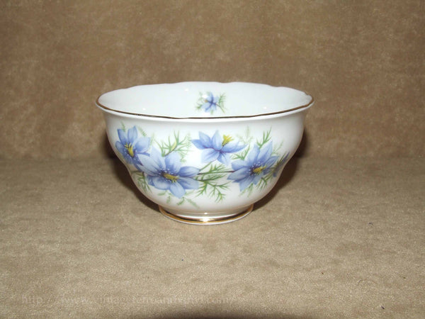 Colclough Bone China 1960's Sugar Bowl - Nigella Love In The Mist
