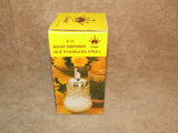 Sugar Dispenser/Shaker 6oz Cut Glass- Boxed - Grace - Vintage Made In Hong Kong - Vintage Retro And Vinyl - 4