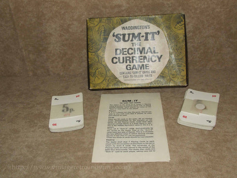 Waddingtons Sum-It - The Decimal Currency Game - Unused - 1968 - Vintage Retro And Vinyl - 1