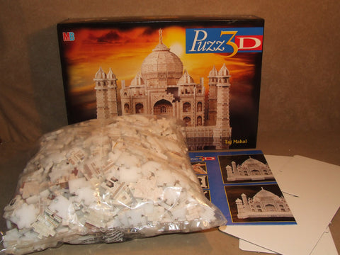 Taj Mahal Puzz 3D Jigsaw Puzzle 1077 Pieces Super Challenging Boxed - Vintage Retro And Vinyl - 1