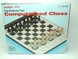 Tandy 1650 Electronic Fast Response Time Computerized Chess Game Boxed Complete