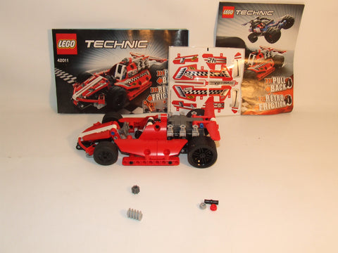 LEGO Technic Pull Back Race Car Complete With Instructions Unused Decals #42011