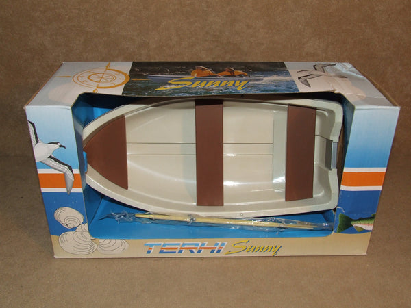 Terhi Sunny Rowboat Plastic Model BNIB Martinex With Oars And Rollocks - Vintage Retro And Vinyl - 1