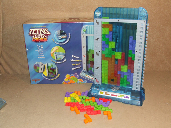 Electronic Tetris Tower 3D Boxed And Complete By Radica 2003 8+ 1 or 2 Players - Vintage Retro And Vinyl - 1