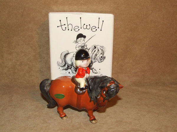 John Beswick Thelwell Pony Learner Rider Excellent With Sticker Boxed 1981 - Vintage Retro And Vinyl - 1