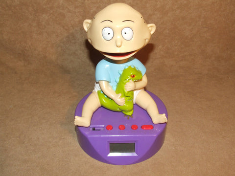 Rugrats Tommy Pickles Talking Digital Alarm Clock Fully Working Vintage 1998