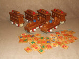 Wooden Pull Along Train With Alphabet & Number Learning Tiles - Vintage - Vintage Retro And Vinyl - 1