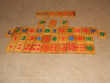 Wooden Pull Along Train With Alphabet & Number Learning Tiles - Vintage - Vintage Retro And Vinyl - 2