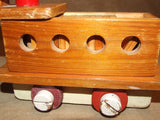 Wooden Pull Along Train With Alphabet & Number Learning Tiles - Vintage - Vintage Retro And Vinyl - 5