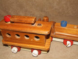 Wooden Pull Along Train With Alphabet & Number Learning Tiles - Vintage - Vintage Retro And Vinyl - 7