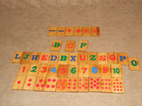 Wooden Pull Along Train With Alphabet & Number Learning Tiles - Vintage - Vintage Retro And Vinyl - 8