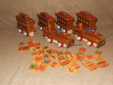 Wooden Pull Along Train With Alphabet & Number Learning Tiles - Vintage - Vintage Retro And Vinyl - 9