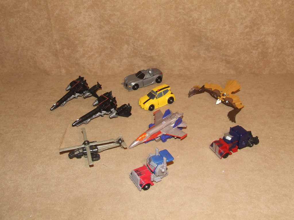 Transformers 9 Vehicle Bundle of Small Transformers - Vintage Retro And Vinyl - 1