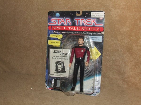 Star Trek Space Talk Series Commander William Riker Sealed On Card Vintage 1995 - Vintage Retro And Vinyl - 1