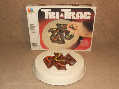 Tri Trac Game - Boxed 7 Complete - MB Games - Vintage 1980 Made In USA Age 7+ - Vintage Retro And Vinyl - 1