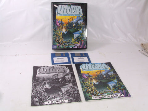Utopia The Creation Of A Nation Atari ST/STE 2 x Floppy Disc Video Game Big Box Version
