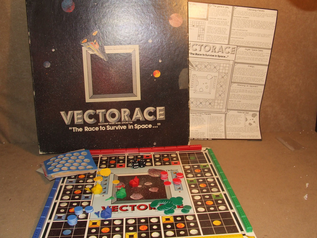 Vectorace Space Game Contents In excellent Condition Very Rare 1980's Board Game - Vintage Retro And Vinyl - 1
