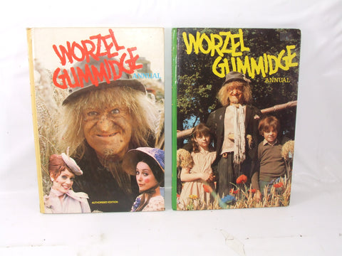 Worzel Gummidge Annuals 1981 & 1982 Both Unclipped Hardbacks